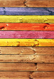 Old wooden boards of multicolor Royalty Free Stock Photos