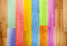 Old wooden boards of multicolor Stock Photo