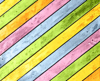 Old wooden boards of multicolor Stock Photos