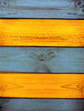 Old wooden boards of multicolor Stock Image