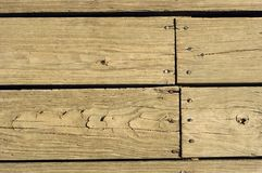 Old wooden boards with nails Stock Photography