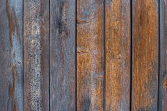 Old wooden boards with shabby old blue paint vector illustration