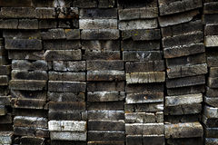 Old Wooden Boards Stacked in Heap Royalty Free Stock Photos