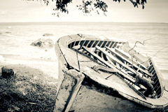 Old wooden boat royalty free stock images