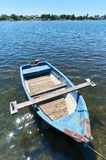 Old wooden boat. Old and wooden boat on Adriatic sea in Croatia Royalty Free Stock Photo