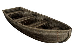 Old wooden boat - 3D render Stock Image