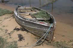 Old Wooden Boat. Decayed, Old and  Wooden Boat Stock Images