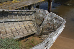 Old Wooden Boat. Decayed, Old and  Wooden Boat Royalty Free Stock Image