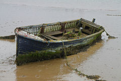 Old Wooden Boat. Decayed, Old and isolated Wooden Boat Royalty Free Stock Photography