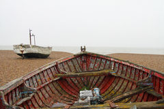 Old Wooden Boat. Decayed, Old and isolated Wooden Boat Stock Photos