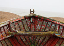 Old Wooden Boat. Decayed, Old and isolated Wooden Boat Royalty Free Stock Images