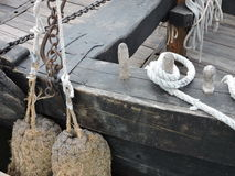 Old wooden  boat details Stock Image