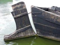 Old wooden  boat details Stock Image