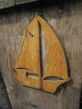 Old wooden  boat details Royalty Free Stock Image