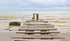 Old wooden boat dock Royalty Free Stock Photo