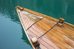 Old wooden boat. Nose of old wooden boat in Venice, Italy Stock Photo