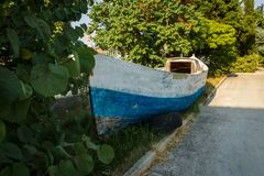 An old wooden boat. Royalty Free Stock Photography