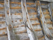Old wooden boat remains Stock Photography