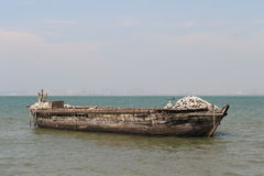 Old Wooden Boat. At sea in Thailand Royalty Free Stock Images