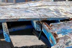 Old wooden boat skeleton Stock Image