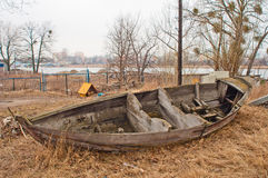 Old wooden boat wreck Royalty Free Stock Photography