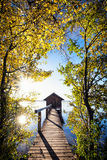 Old wooden boathouse Royalty Free Stock Image