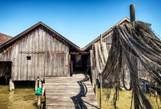 Old wooden boathouse Royalty Free Stock Photo
