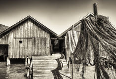 Old wooden boathouse Royalty Free Stock Photos