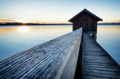 Old wooden boathouse Stock Image