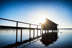 Old wooden boathouse Royalty Free Stock Photography