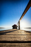 Old wooden boathouse Stock Photos