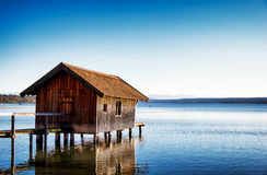 Old wooden boathouse Stock Photography