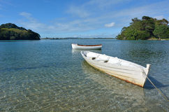 Old wooden boats - New Zealand Royalty Free Stock Photography