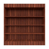 Old Wooden book Shelf. Stock Photo