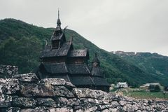 Free Old Wooden Borgund Stave Church Stock Image - 114154231