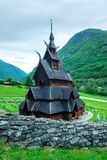 Old wooden Borgund Stave Church Stock Photo