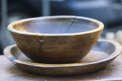 Old wooden bowl Stock Image