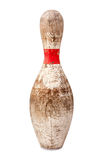 Old Wooden Bowling Pin Royalty Free Stock Photo