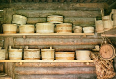 Old wooden bowls. Stock Photography