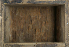 Old wooden box. Interior frame - old wooden box stock photos