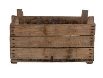 Free Old Wooden Box, Crate, Isolated On White. Front View, Empty. Stock Photo - 135936850