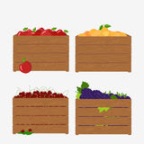Old wooden box Royalty Free Stock Images