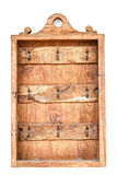 Old wooden box for hanging keys on white Royalty Free Stock Photography