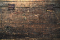Old wooden box marked time. Royalty Free Stock Photo