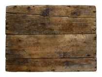 Old wooden box marked time. Background, texture,isolated stock image