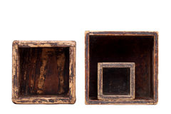 Old wooden boxes Stock Images