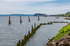 Old Wooden Breakwater Stock Photography