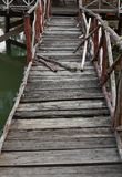 Old wooden bridge. Stock Images