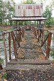 Old wooden bridge. Stock Photos