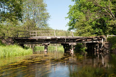 Old wooden bridge Royalty Free Stock Image